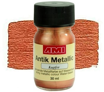 Antik Metallicfarbe 30 ml Kupfer